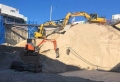 Removing detail sand and ramp with 3 excavators - Mermaid Beach