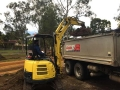 4t Excavator on the job for Australian Wetlands - Camira Ipswich