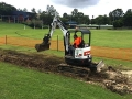 Bruce Digging Trenches for Flood Lights - Jindalee Primary School