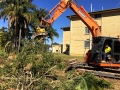 14t Excavator Loading Green Waste - Wavell Heights