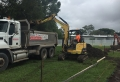 Josh and Justin in the tipper and excavator - Tingalpa Primary School