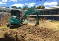 3t Excavator Digging Trenches at School - Salisbury