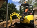 Zaheer digging out a pool for Steve Dolan Pools - 4t Excavator