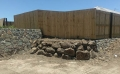 Building a rock wall - Bli Bli