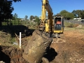 Digging up an old fuel tank - Morningside Brisbane