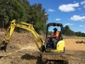 Zaheer in his 4t excavator - Australian Wetlands