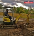 Tod on his mini excavator - Bellbird Park
