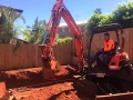 4t Excavator making short work of a pool dig - Wellington Point
