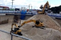 3 Excavators Working a Bulk Excavation - Gold Coast