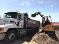 Loading excess from footings into Justin's Mack