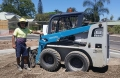 Allan in his Bobcat - Mortimer Rd Acacia Ridge
