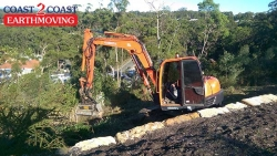 Mulching with an Excavator - Caloundra