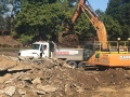 20t excavator loading out soil - Ipswich Council Project