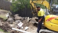 Digging up a burst pipe - Sunny Bank
