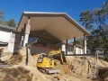 Earthworks for a house renovation - Tallebudgera