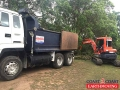 Truck and excavator final site clean - GMAC Homes